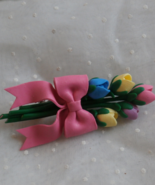 Tulip Bouquet with Pink Bow, Charming Brooch or... - $4.99