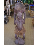 Aibom Meri Statue Handcarved Coal Carrier Japan... - $581.99