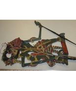 Antique Rare Theater Shadow Puppet Wayang Kulit... - $155.19