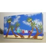 Artist Signed Lg Hand Painted Wood Box Caribbea... - $261.89