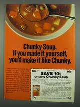 1974 Campbell's Chunky Soup Ad - If You Made Yourself - $14.99