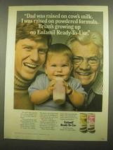 1974 Enfamil Formula Ad - Dad Raised on Cow's Milk - $14.99