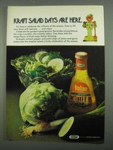 1974 Kraft Italian Dressing Ad - Salad Days are Here - $14.99