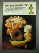 1974 Kraft Mayonnaise Ad - Salad Days Are Here - $14.99