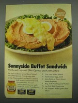 1974 Kraft Mustard and SPAM spread Ad, Sunnyside Buffet - $14.99