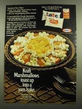 1974 Kraft Marshmallows Ad - Sunburst Yam Bake - $14.99