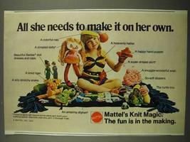 1974 Mattel Knit Magic Ad - All She Needs to Make It - $14.99