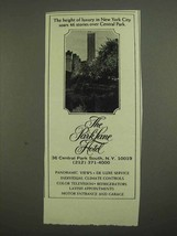 1974 The Park Lane Hotel Ad - Height of Luxury - $14.99
