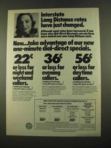 1975 Bell Long Distance Ad - Interstate Rates - $14.99