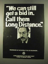 1975 Bell Long Distance Ad - We Can Get a Bid In - $14.99