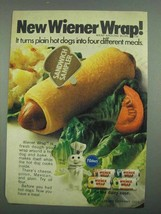1974 Pillsbury Wiener Wrap Ad - Four Different Meals - $14.99