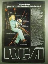 1974 RCA Electronics Ad - Car Built-In Reflexes - $14.99