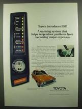 1974 Toyota Car Ad - Introduces ESP - $14.99
