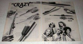 1975 Clairol Crazy Curl Steam Styling Wand Ad - $14.99