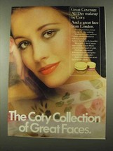 1975 Coty Great Coverage All Day Makeup Ad, Great Faces - $14.99