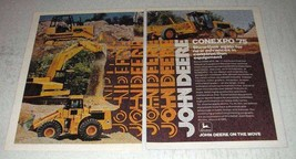 1975 John Deere Construction Equipment Ad - Conexpo - $14.99