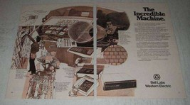 1975 Bell Labs Western Electric Ad - Incredible Machine - $14.99