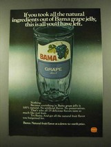 1975 Borden Bama Grape Jelly Ad - Natural Ingredients - $14.99