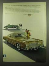 1975 Cadillac Eldorado Ad - It Can Take Decades - $14.99