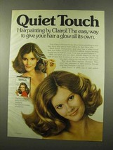 1975 Clairol Quiet Touch Hair Color Ad - Give a Glow - $14.99