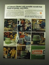 1975 Coleman Heaters Ad - Safe, Portable Warmth - $14.99