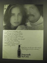 1975 Coty Emeraude Perfume Ad - Really Knows Me - $14.99