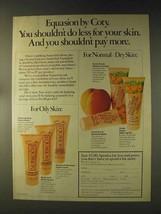 1976 Coty Ad - Foaming Soap, Medicated Blotting Gel - $14.99