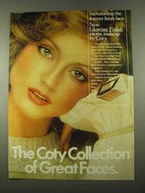 1975 Coty Glowing Finish Crme Makeup Ad - Great Faces - $14.99