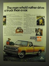 1975 Dodge Pickup Truck Ad - Rather Drive a Truck - $14.99