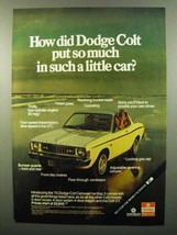 1975 Dodge Colt Carousel Hardtop Ad - Put So Much In - $14.99