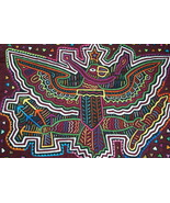 Kuna Traditional Mola Hand stitched Art Appliqu... - $67.89