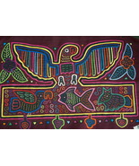 Kuna Traditional Mola Hand stitched Applique Pa... - $58.19