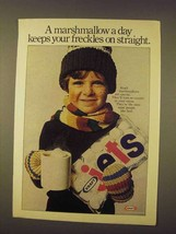 1976 Kraft Marshmallows Ad - Freckles on Straight - $14.99