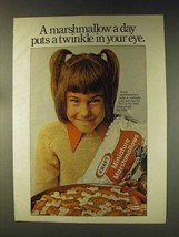 1976 Kraft Miniature Marshmallows Ad - Twinkle in Eye - $14.99