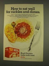 1976 Kraft Spaghetti with Meat Sauce Dinner Ad - $14.99