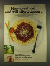 1976 Kraft Tangy Italian Style Spaghetti Dinner Ad - $14.99