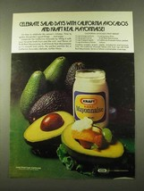 1975 Kraft Mayonnaise Ad - Avocado Fruit Medley - $14.99