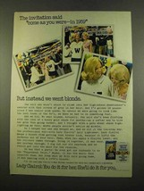 1975 Lady Clairol Hair Color Ad - Invitation - $14.99