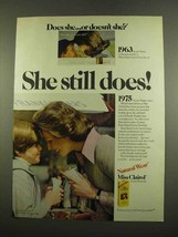 1975 Miss Clairol Hair Color Ad - She Still Does - $14.99