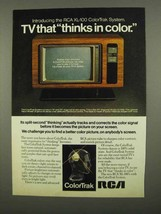 1975 RCA XL-150 ColorTrak TV Ad - Thinks in Color - $14.99