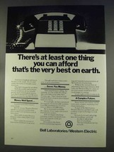 1977 Bell Labs and Western Electric Ad - Best on Earth - $14.99