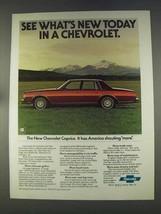 1977 Chevrolet Caprice Classic Sedan Ad - What's New - $14.99