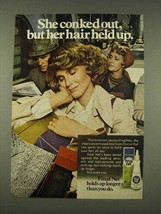 1976 Clairol Final Net Hair Spray Ad - She Conked Out - $14.99