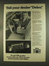 1976 Delco Radio Ad - Tell Your Dealer - $14.99