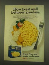 1976 Kraft Macaroni & Cheese Deluxe Dinner Ad - Paydays - $14.99