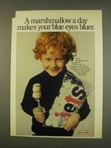 1976 Kraft Marshmallows Ad - Makes Blue Eyes Bluer - $14.99