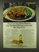 1977 Planters Oil Ad - Shun Lee's Szechuan Shrimp - $14.99