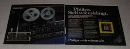 1977 2-page Philips Audio Equipment Ad - in German - $14.99