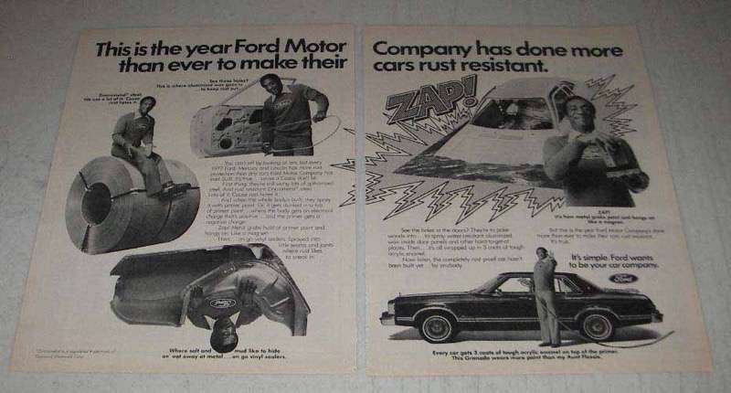1977 2-page Ford Motor Company Ad - Bill Cosby