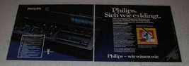 1977 2-pg Philips Audio Equipment Ad - in German - $14.99